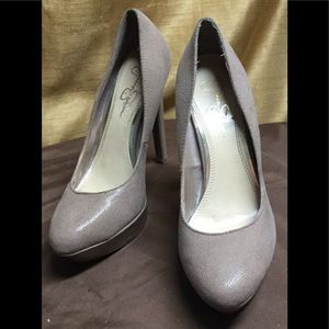 Jessica Simpson Beige Stilettos